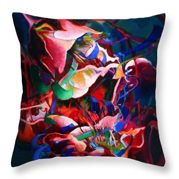 Water Avens, Entanglement I Throw Pillow by Georg Douglas