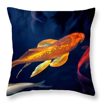 Water Ballet Throw Pillow by Martina  Rathgens