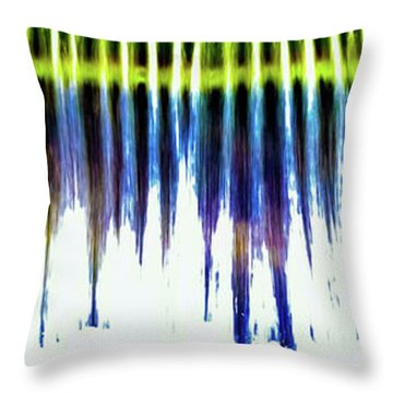 Throw Pillow featuring the photograph Water Brushes by Tom Vaughan