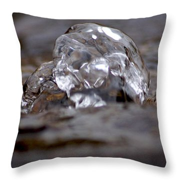 Water Bubbles On Fountain Throw Pillow