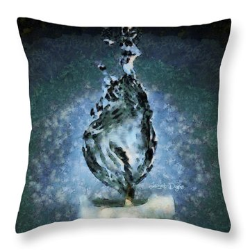 Water Candle Throw Pillow