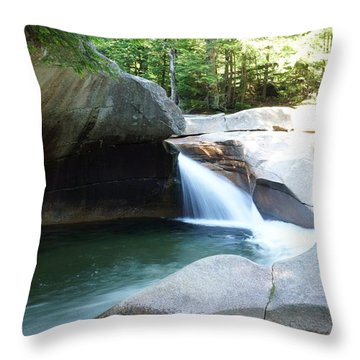 Throw Pillow featuring the photograph Water-carved Rock by Kerri Mortenson