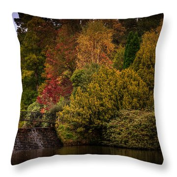 Throw Pillow featuring the photograph Water Cascade by Ryan Photography