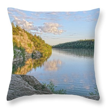 Water, Clouds And Blue Throw Pillow