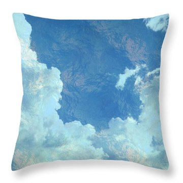 Water Clouds Throw Pillow
