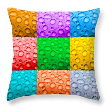 Throw Pillow featuring the photograph Water Color by DJ Florek