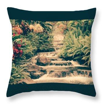 Water Creek Throw Pillow by Sheila Mcdonald
