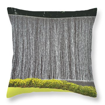 Throw Pillow featuring the photograph Water Curtain by Bill Thomson
