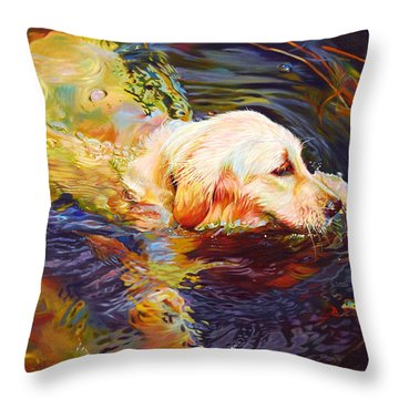 Water Dance 2 Throw Pillow by Kelly McNeil