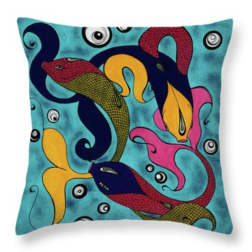 Water Dance Throw Pillow