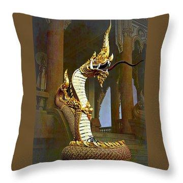 Water Dragon-  Phaya Naga Throw Pillow