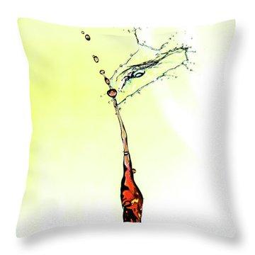 Water Drop #6 Throw Pillow