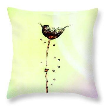Water Drop #9 Throw Pillow
