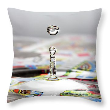 Water Drop Cards Throw Pillow