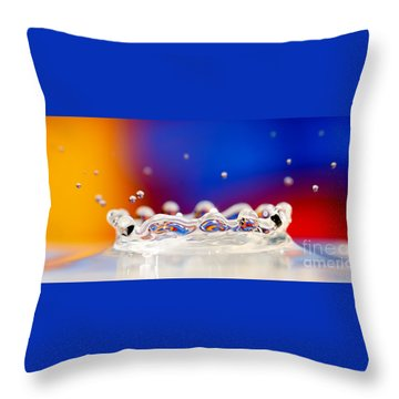 Throw Pillow featuring the photograph Water Drop by Colin Rayner