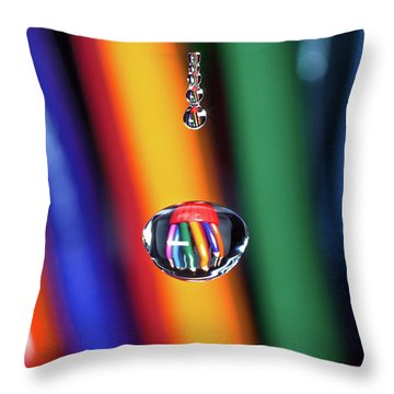 Water Drop Pencils Throw Pillow