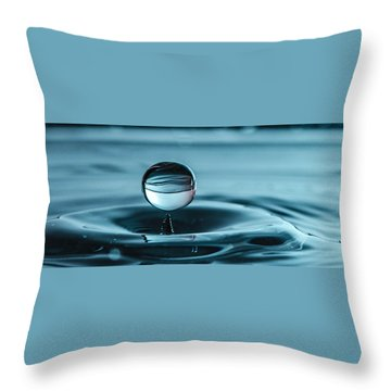 Water Drop With Milk Throw Pillow by Bruce Pritchett