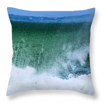 Throw Pillow featuring the photograph Water Falling by Michelle Wiarda