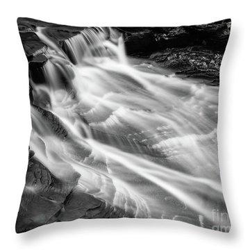 Water Falls Throw Pillow