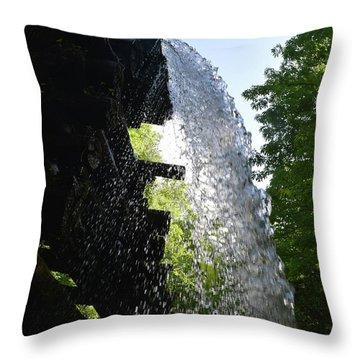 Water Flume Diversion Throw Pillow