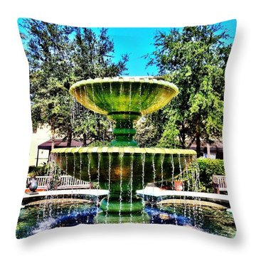 Water Fountain Throw Pillow by Carlos Avila