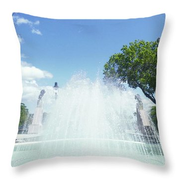 Water Fountain Ponce, Puerto Rico Throw Pillow