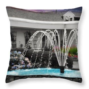 Water Fountain Throw Pillow