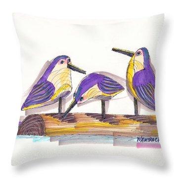 Water Fowl Motif #2 Throw Pillow