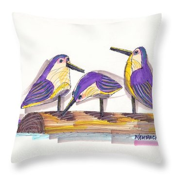 Water Fowl Motif #2 Throw Pillow