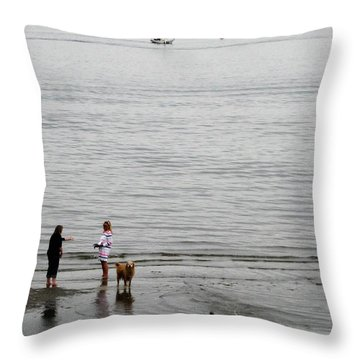 Water Fun Throw Pillow