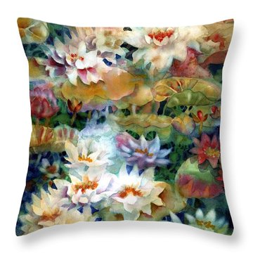 Water Garden II Throw Pillow