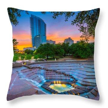 Water Gardens Sunset Throw Pillow