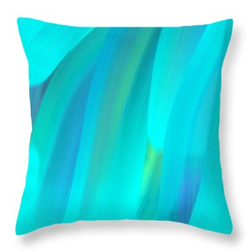 Water Throw Pillow by George Pedro