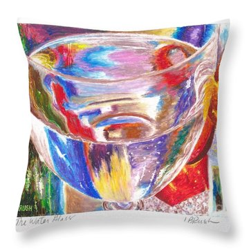 Water Glass Throw Pillow