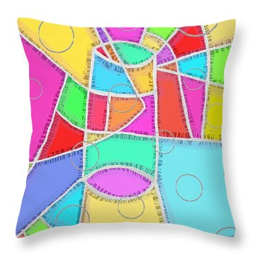 Water Glass Of Light And Color Throw Pillow by Jeremy Aiyadurai