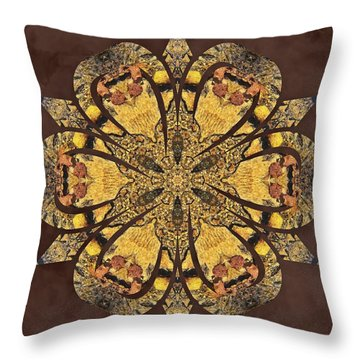 Throw Pillow featuring the mixed media Water Glimmer 1 by Derek Gedney