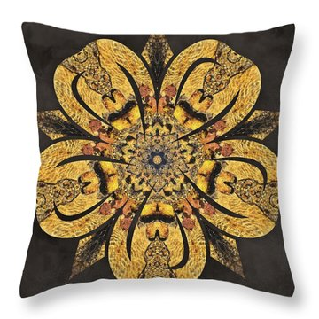 Throw Pillow featuring the mixed media Water Glimmer 2 by Derek Gedney