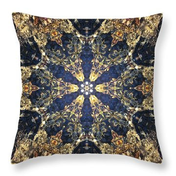 Throw Pillow featuring the mixed media Water Glimmer 3 by Derek Gedney