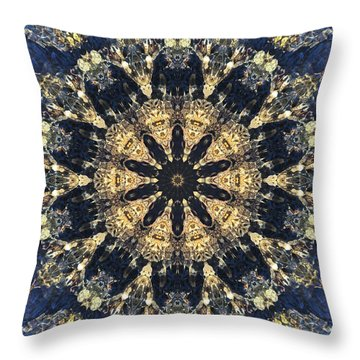 Throw Pillow featuring the mixed media Water Glimmer 4 by Derek Gedney