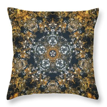 Throw Pillow featuring the mixed media Water Glimmer 5 by Derek Gedney