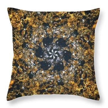 Throw Pillow featuring the mixed media Water Glimmer 6 by Derek Gedney