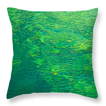 Water Green Throw Pillow