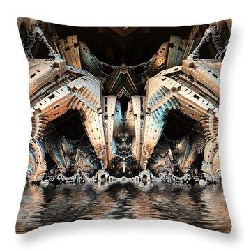 Water Hazard Throw Pillow