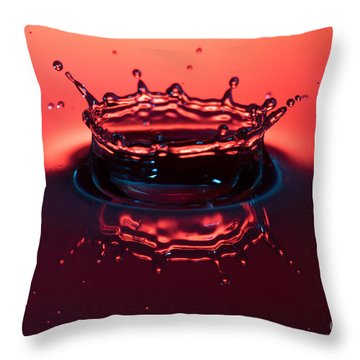 Water Hits Water Throw Pillow