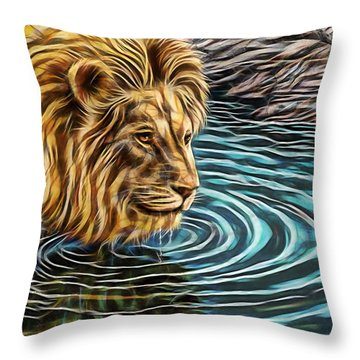 Water Hole Throw Pillow by Marvin Blaine