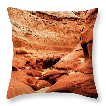 Throw Pillow featuring the photograph Water Holes Canyon  by Norman Hall