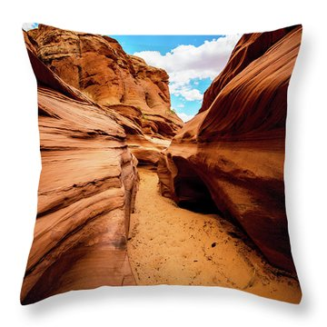 Throw Pillow featuring the photograph Water Holes Canyon Trail by Norman Hall