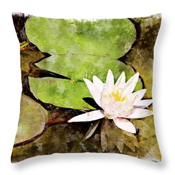Water Hyacinth Two Wc Throw Pillow by Peter J Sucy