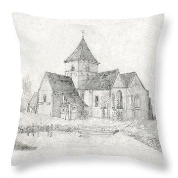 Water Inlet At Church Throw Pillow