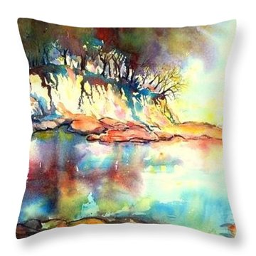 Water Inlet Throw Pillow